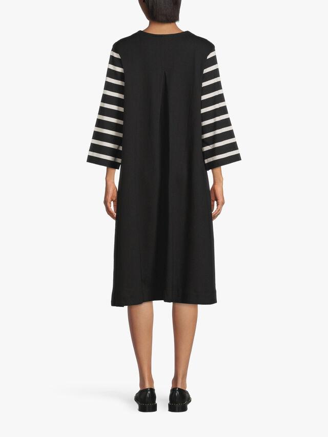 Nelena Mono Stripe Mix Dress