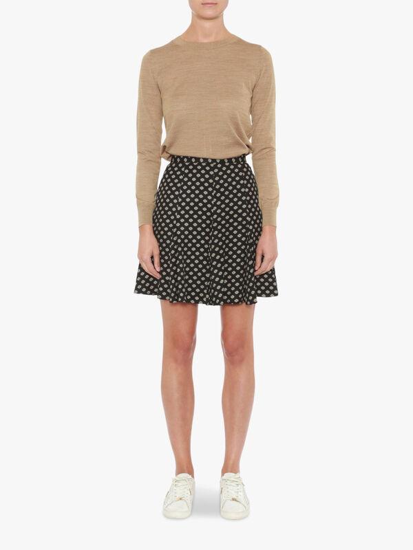 Framed Godet Skirt