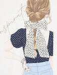 Long Sleeve Hairbow Girl Top