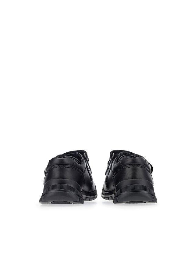 Engineer Black Leather School Shoes