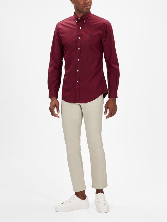 Soft Poplin Long Sleeve Slim Fit Shirt
