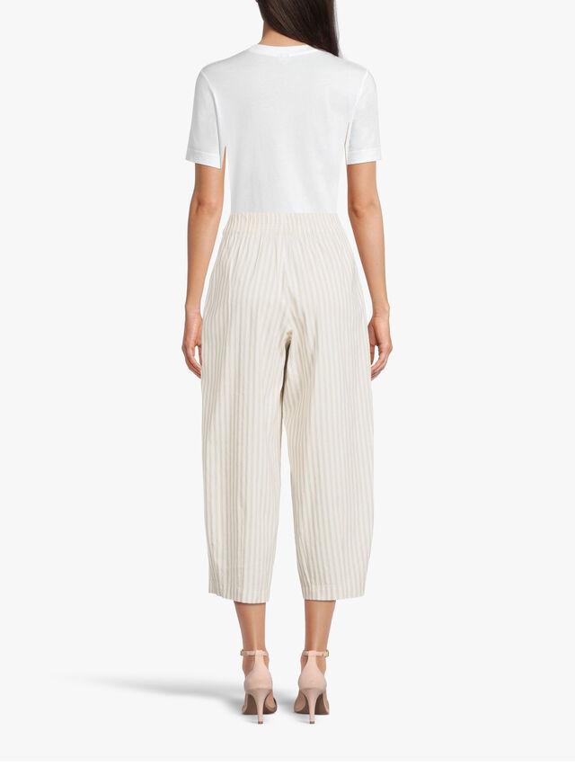 Striped Linen Lantern Trouser