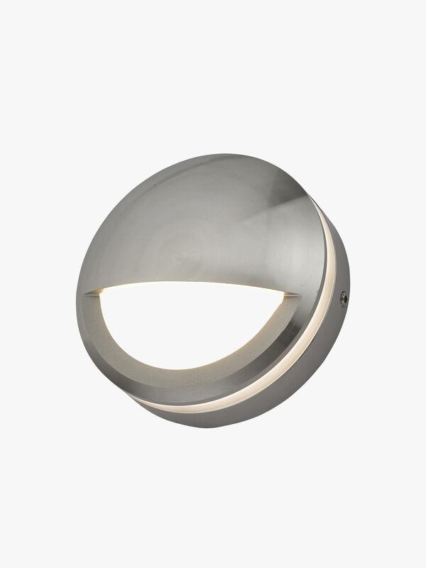 Akos Round Eyelid Aluminium Outdoor LED Wall Path Light