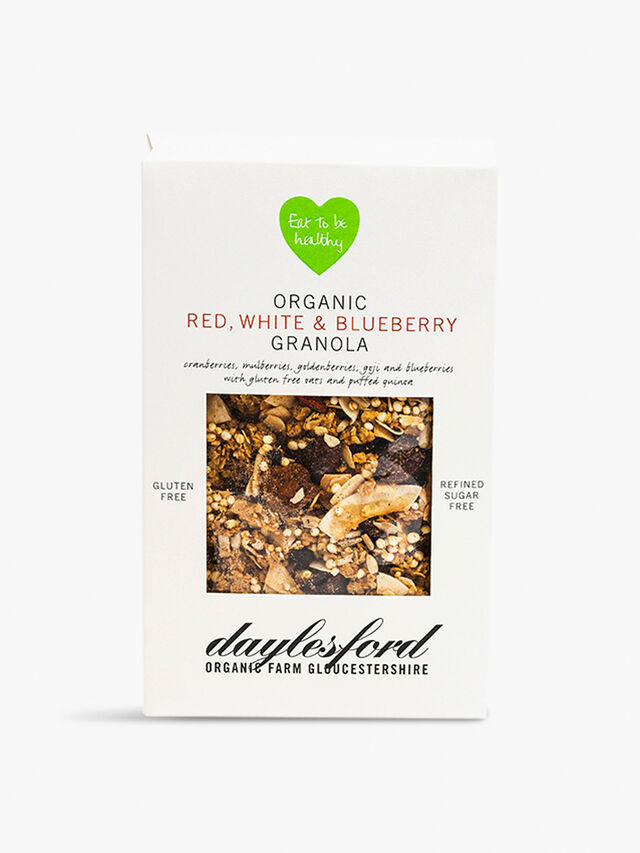 Organic Red White & Blueberry Granola 350g