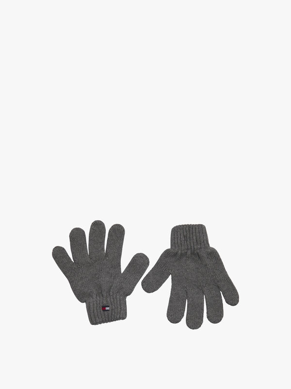Rib-Knit Flag Gloves