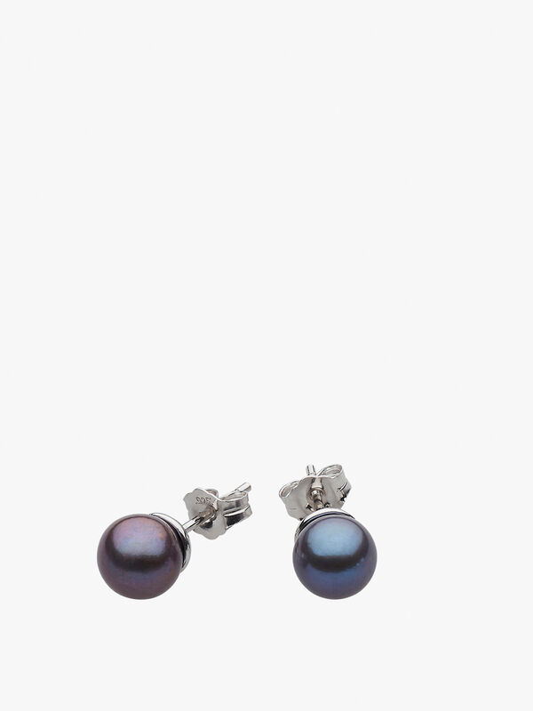 Desire Lustrous Peacock Freshwater Pearl Studs