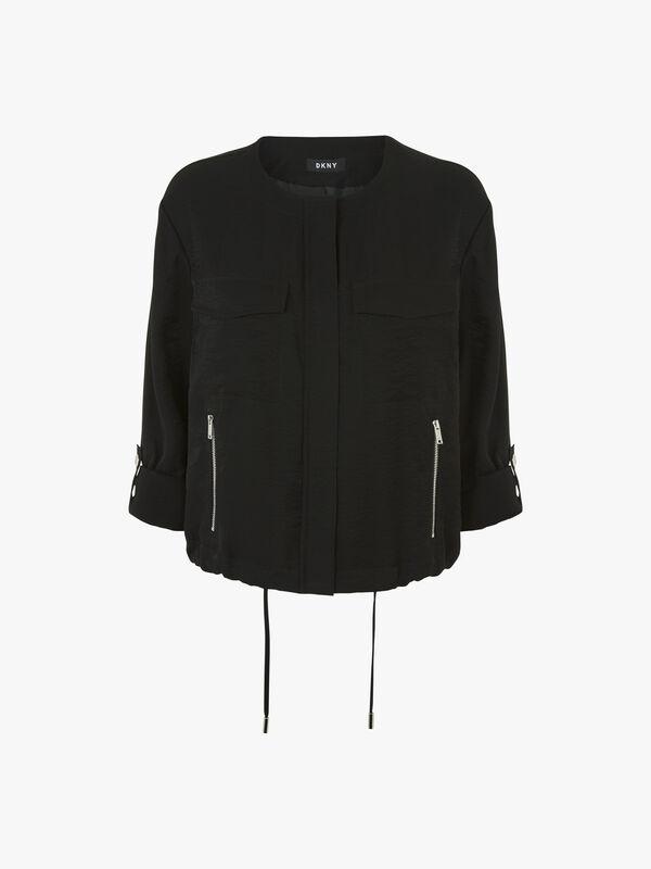 Roll Tab Zip Front Jacket
