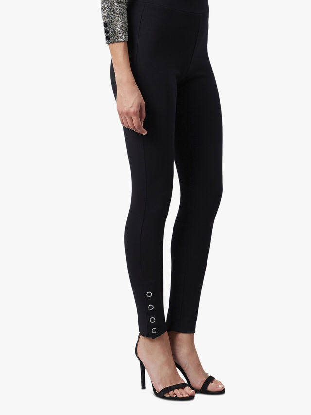 Button Detail Trousers