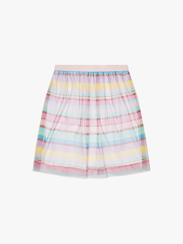 Tulle Stripe Skirt