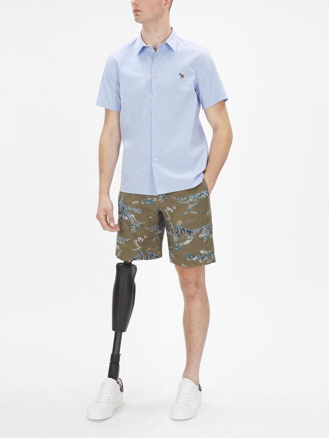 Short Sleeve Zebra Badge Shirt