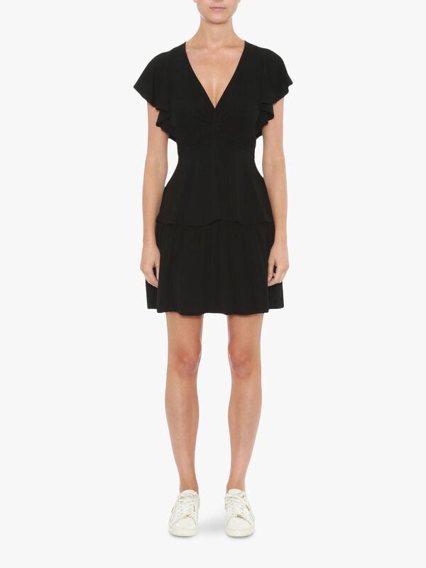 Twist Ruffle Dress