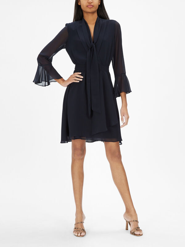 Sonetto Long Sleeve Wrap Dress