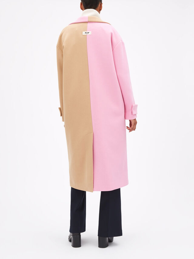 Colour Block Long Coat