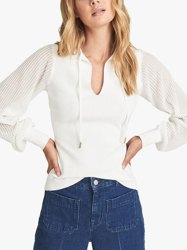 Sloane Semi Sheer Sleeve Top