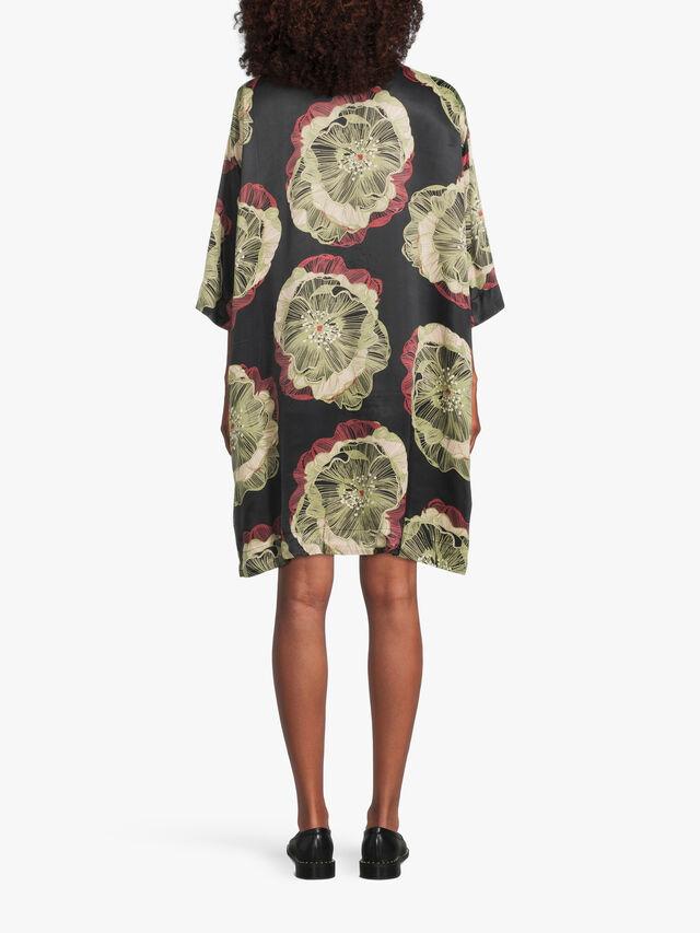 Naslana Floral Satin Dress