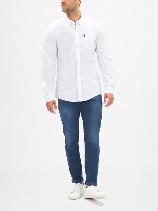 Seaton Long Sleeved Linen Cotton Shirt