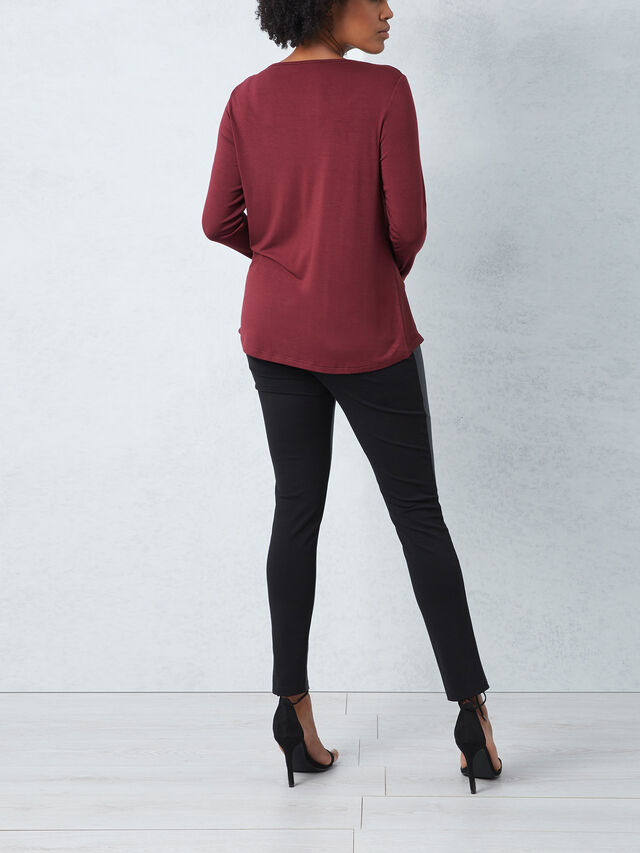 Cowl Neck Satin Top
