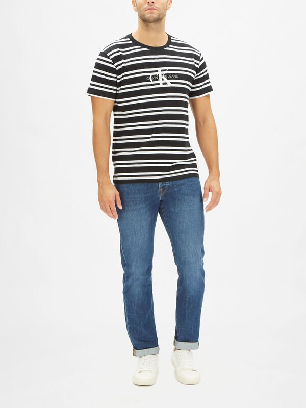 Striped CK Center Logo T-Shirt