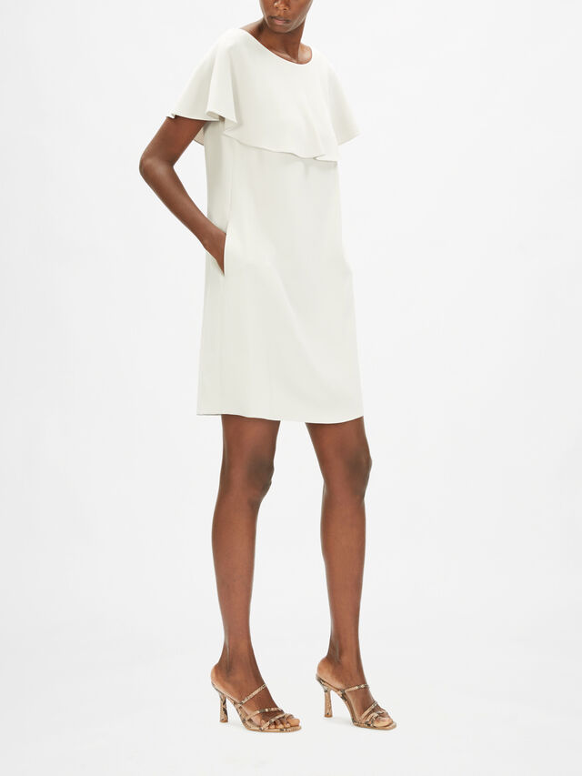 Shift Dress With Cape Detail