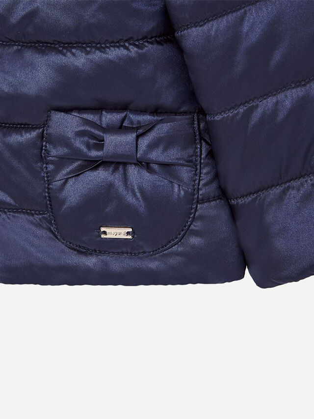 Puffa Coat With Bows