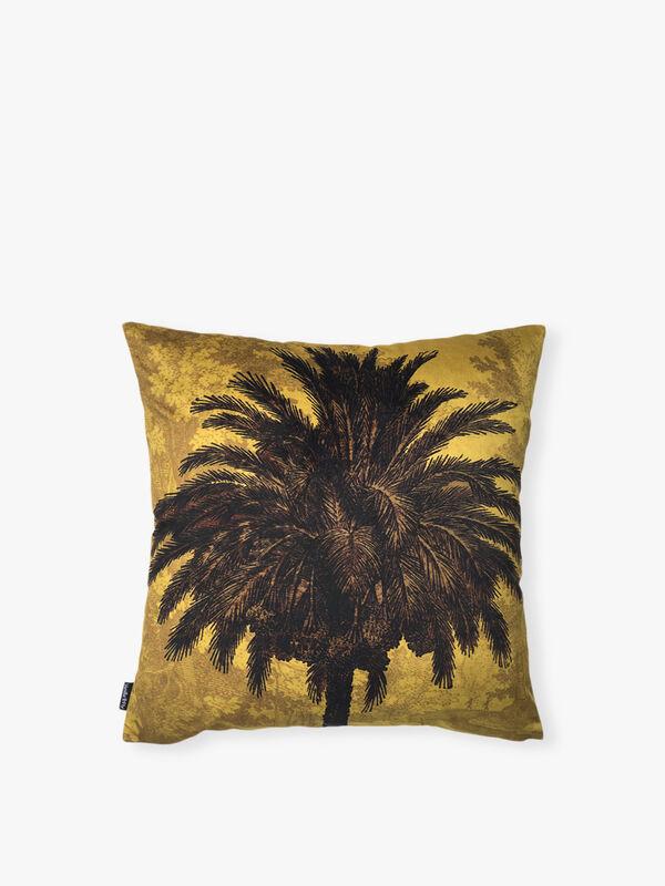 Palm Cushion Cover Blue