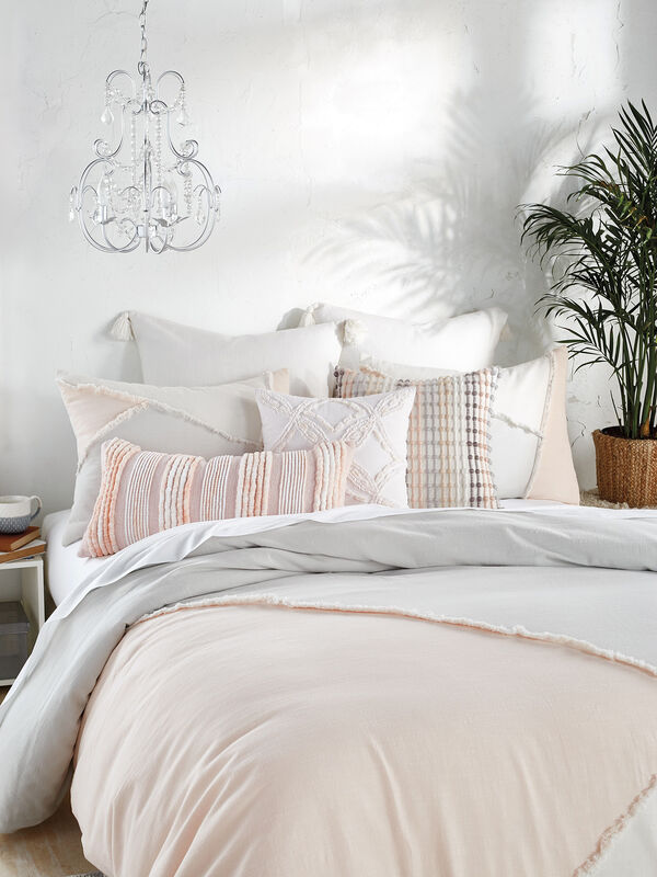 Colorblock Fringe Duvet Cover