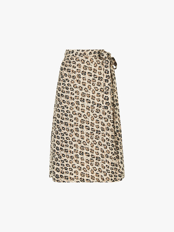 Collen Leopard Skirt
