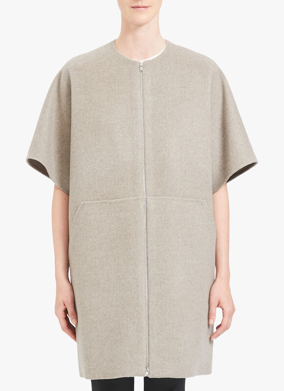 Short Sleeve Straight Bell Coat