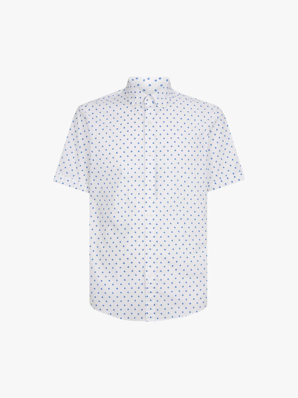 Slim Dot Print Shirt