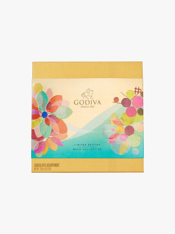 Gold 24 Piece Chocolate Spring Box