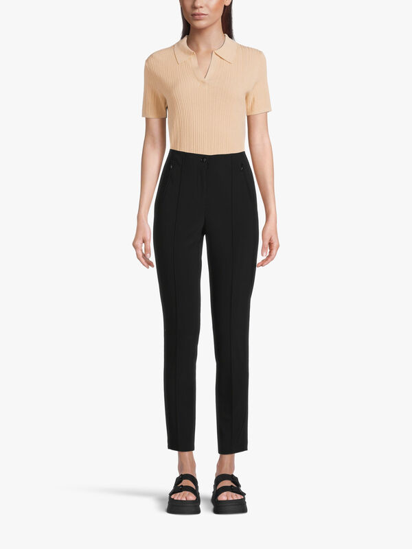 Slim Fit Button Front Trouser with Side Pockets