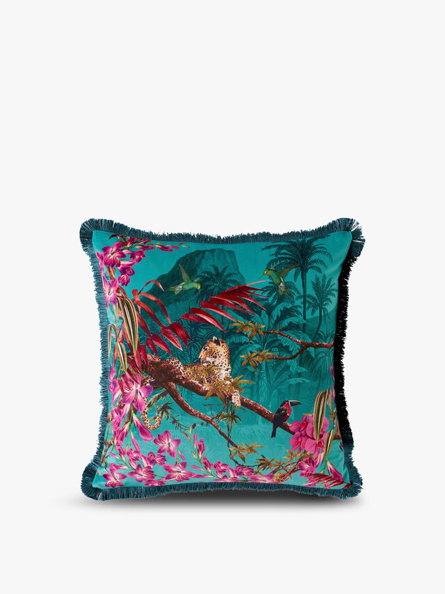 Hibiscus Polyester Filled Cushion