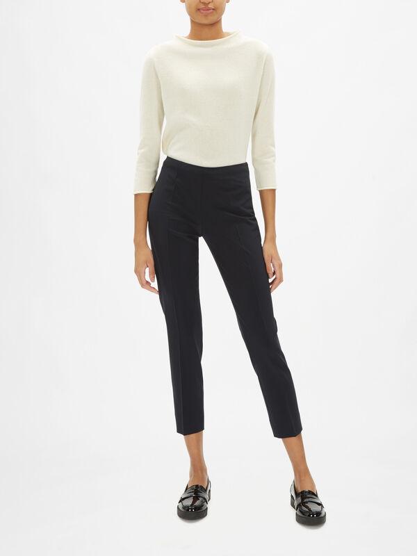 Emanuella Tropical Wool Trouser