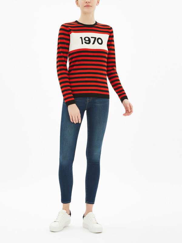 1970 Striped Wool Jumper
