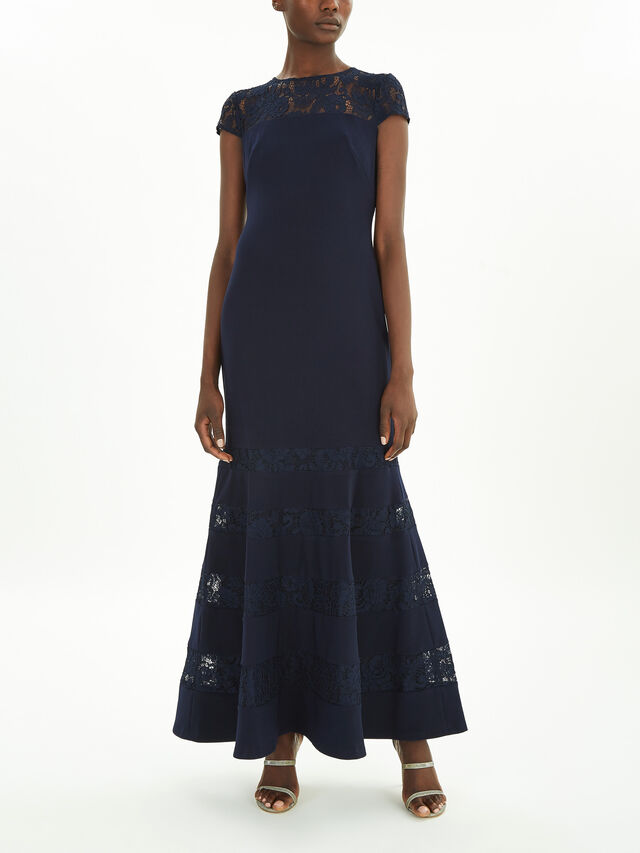 Inosensha Short Sleeve Evening Dress