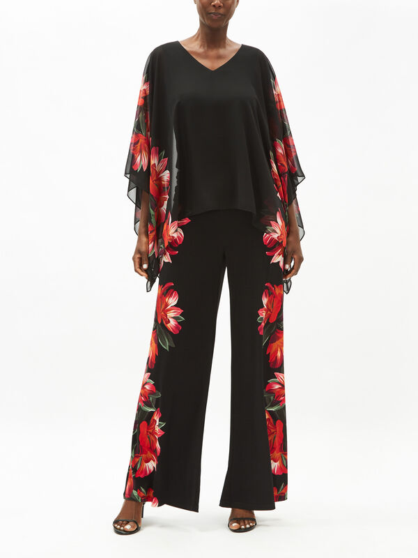 Orchid Print Top