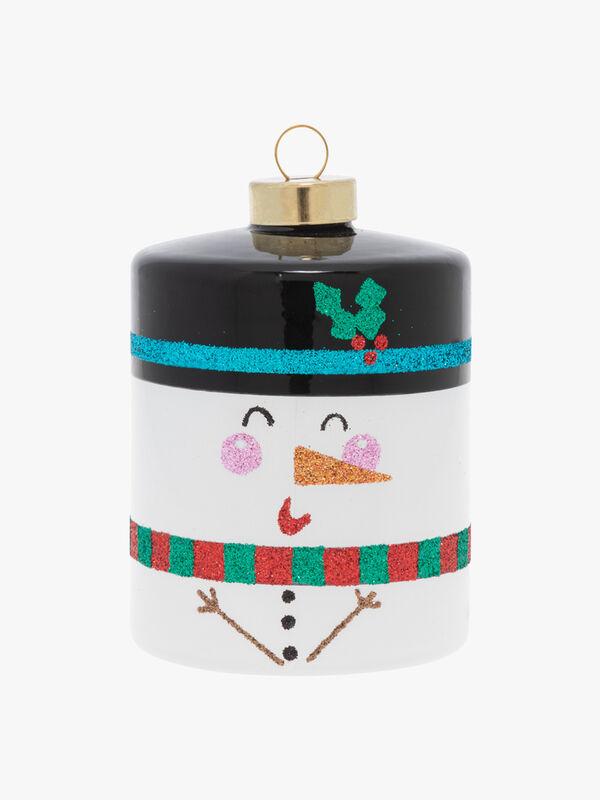 Snowman Cylinder Christmas Decoration