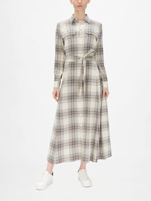 Wool Plaid Dress