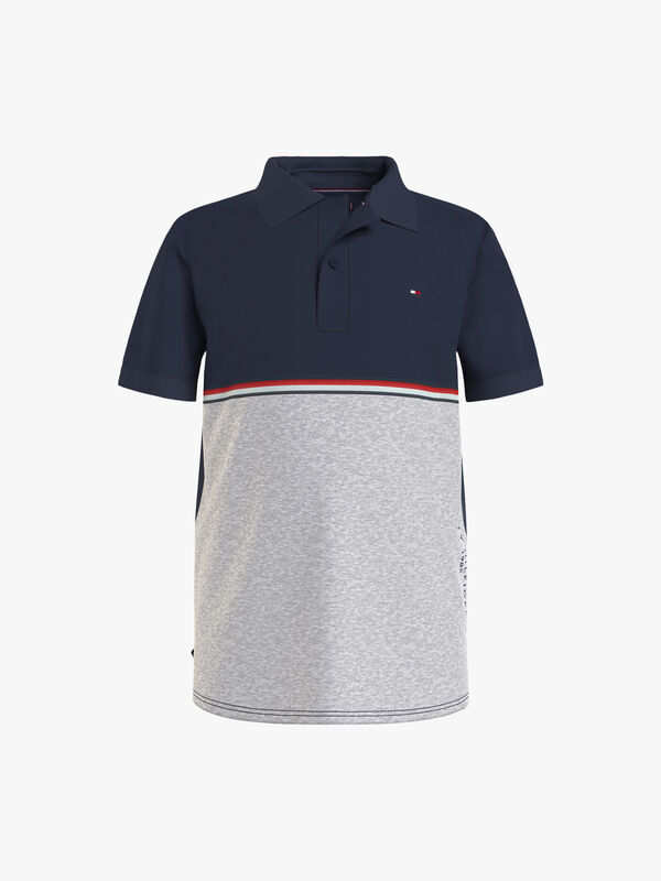 Colorblock Tape Polo Shirt