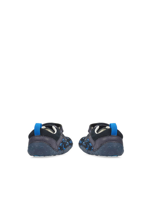Little Fin Navy Nubuck Baby Shoes