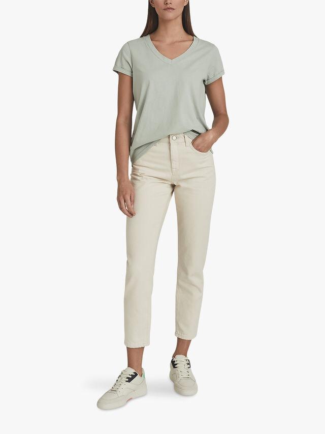 Luana Cotton-Jersey V-Neck T-Shirt