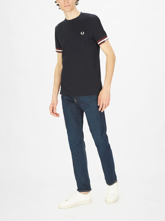 Abstract Cuffed T-Shirt