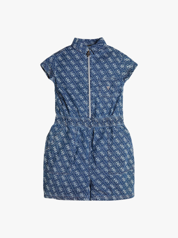 Denim Logo Romper
