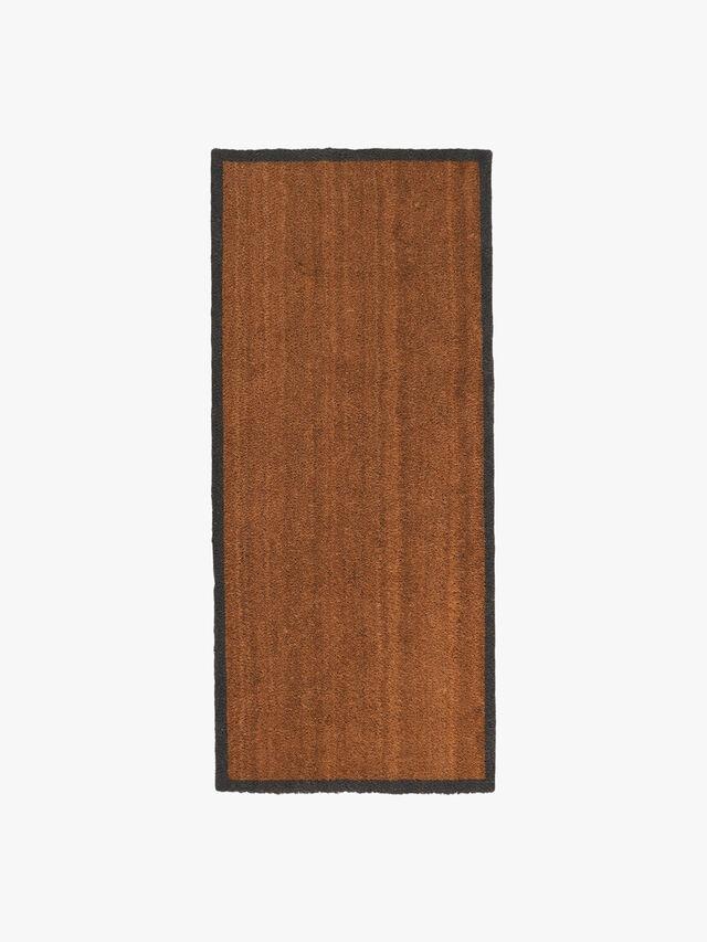 Charcoal Border Double Door Mat