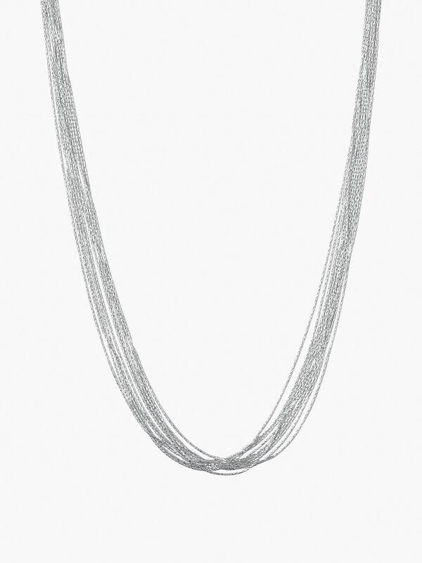 Essentials Silk Row Necklace