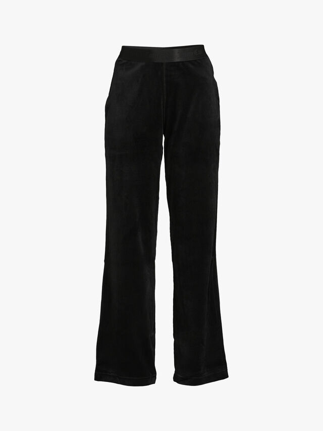 Rib Velour Wide Leg Trouser