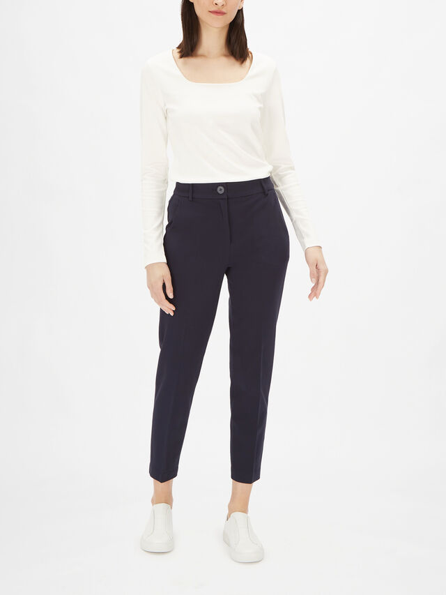 Jersey Cropped Skinny Trouser