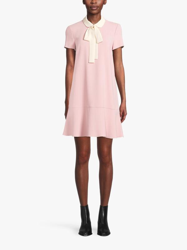 Tie Detail Peplum Mini Dress