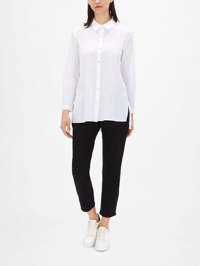 Classic Collar Organic Cotton Twill Shirt