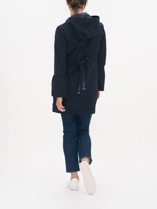 Bagliore Flared Sleeve Hooded Zip Down Coat